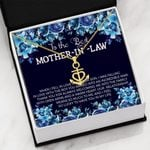Mother In Love Message Card Anchor Necklace Gift For Mother In Law