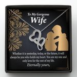 You Are My Only One For The Rest Of My Life Double Hearts Necklace Gift For Wife