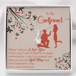 To My Girlfriend Out Of Habit Message Card Alluring Beauty Necklace