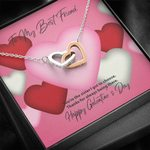 Interlocking Hearts Necklace Gift For Best Friend Thank For Being There