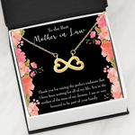 Thank For Raising The Proudest Soulmate Infinity Heart Necklace Gift For Mother In Law
