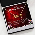 Thank You For All You've Done Gift For Mom Scripted Love Necklace