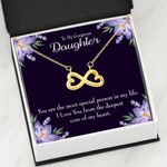 The Most Special Person In Life Infinity Heart Necklace Gift For Daughter