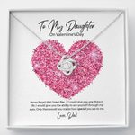 Love Knot Necklace Dad Gift For Daughter Never Forget I Love You