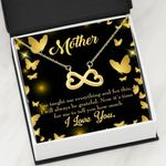 Infinity Heart Necklace Gift For Mother Always Be Grateful
