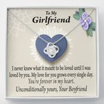 Love Knot Gift For Girlfriend I Love You More Every Day
