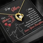 To My Mom Happy Mother's Day You Are Fantastic Forever Love Necklace