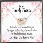 Interlocking Hearts Necklace Gift For Fiance Forever Is Now