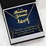 We Love You Scripted Love Necklace Gift For Mom