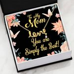 Simply The Best Scripted Love Necklace Gift For Mama