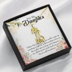 To My Daughter Give Me Hope And Joy Giraffe Couple Necklace