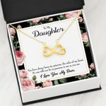 To My Daughter The Ruler Of My Heart Infinity Heart Necklace