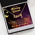 Mom Tough Job Meaningful Mom Gift Idea Scripted Love Necklace