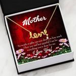 No Words Or Gifts Message Card Scripted Love Necklace Gift For Mom