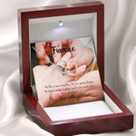 Life Is Now Completer Gift For Fiancee Interlocking Hearts Necklace With Mahogany Style Gift Box
