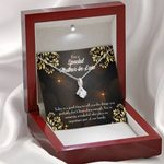 Thank You Gold Mandala Pattern Alluring Beauty Necklace Gift For Mother In Law