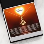 Love Is Patient And Is Kind Love Anchor Necklace