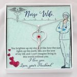 You Brighten Up My Day Stethoscope Necklace Gift For Nurse Wife