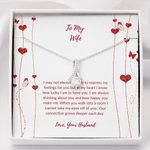 Our Connection Grows Deeper Each Day Gift For Wife Alluring Beauty Necklace