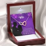 You Are My Best Gift For Wife Interlocking Hearts Necklace