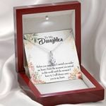 Message Card Alluring Beauty Necklace Gift For Daughter Before You Were Born