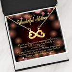 Infinity Heart Necklace Gift For Mom The Best Person In The Whole Universe