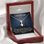 Lord Is My Light Inspirational Message Gift Alluring Beauty Necklace