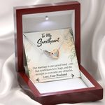 Our Marriage Is Our Sacred Bond Gift For Wife Interlocking Hearts Necklace