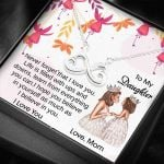 To My Daughter I Believe In You Infinity Heart Necklace