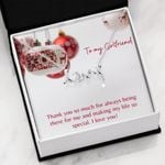 Thank You So Much Gift For Girlfriend Scripted Love Necklace