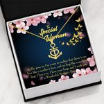 To Special Woman Love Your Hugs Anchor Necklace