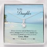 Loved More Than You Know Ocean Mom Gift For Daughter Alluring Beauty Necklace