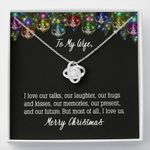 Love Knot Necklace Gift For Wife Our Laughter Our Hugs