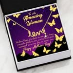 Thank For Gaving Birth To Me Scripted Love Necklace Gift For Mom