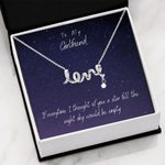 Starry I Thought Of You Gift For Girlfriend Scripted Love Necklace