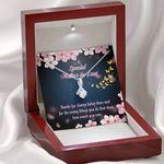 Thanks For Always Being There Gift For Mother In Law Alluring Beauty Necklace