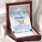 Thank You For Being My Daughter Gift For Daughter Interlocking Hearts Necklace With Mahogany Style Gift Box