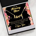 You Are The Best Mom Scripted Love Necklace Gift For Mom