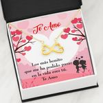 Te Amo Spanish Heart Tree Infinity Heart Necklace Gift For Wife