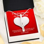 You Are Forever In My Heart Gift For Granddaughter Stainless Vertical Bar Necklace