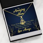 My Amazing Mom Beautiful Loving And Happy Mommy Anchor Necklace