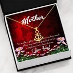 Thank For Everything Message Card Anchor Necklace Gift For Mom