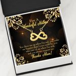 Infinity Heart Necklace Gift For Mom You Cheer Me