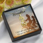 To My Daughter Life Gave Me You Giraffe Couple Necklace