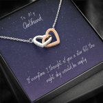 The Night Sky Would Be Empty Interlocking Hearts Necklace Gift For Darling