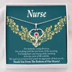 Stethoscope Necklace Gift For Nurse Thank You From The Bottom Of Our Hearts
