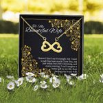 Love You Till The End Of Time Gift For Wife 18K Gold Infinity Heart Necklace