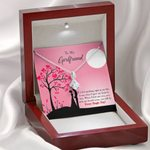 Moonlight I Gave My Heart To You Gift For Girlfriend 14K White Gold Alluring Beauty Necklace
