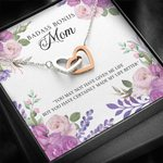 Interlocking Hearts Necklace Gift For Bonus Mom You've Made My Life Perfect