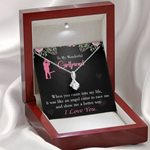 When You Came Into My Life Message Card Alluring Beauty Necklace Gift For Lovers